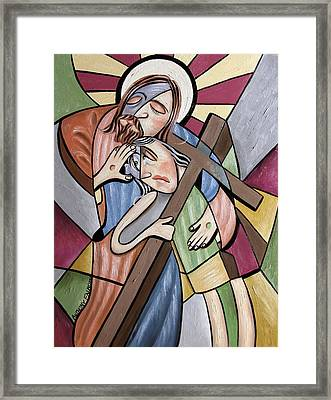 Lean On Me Framed Print by Anthony Falbo