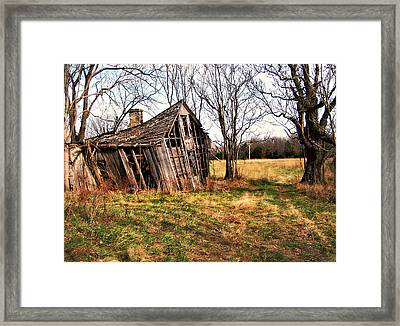 Lean To Framed Print by Marty Koch