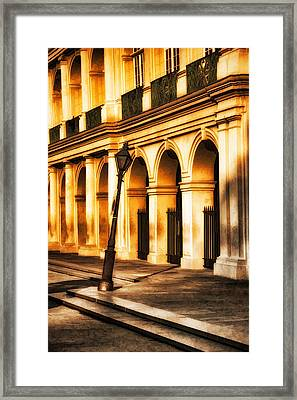 Leaning Lamp Post Framed Print by Brenda Bryant