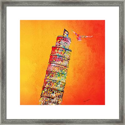 Leaning Tower Framed Print by Mark Ashkenazi