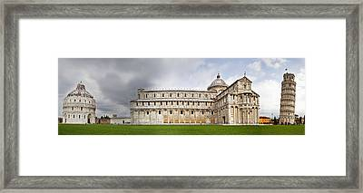 Leaning Tower Of Pisa And Cathedral Square Framed Print by Susan Schmitz