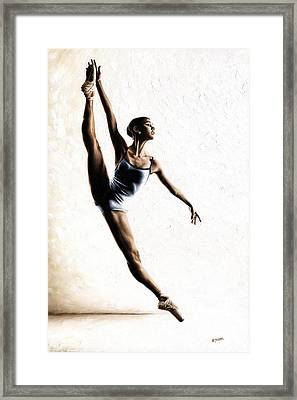 Leap Of Faith Framed Print by Richard Young
