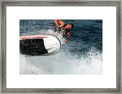 Leap Of Faith Framed Print by  Waite