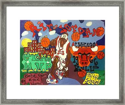 Leaping Buildings Framed Print by Mj  Museum