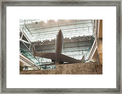 Learjet Display At Denver Airport Framed Print by Jim West