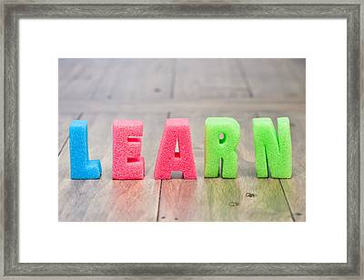 Learn Framed Print by Tom Gowanlock