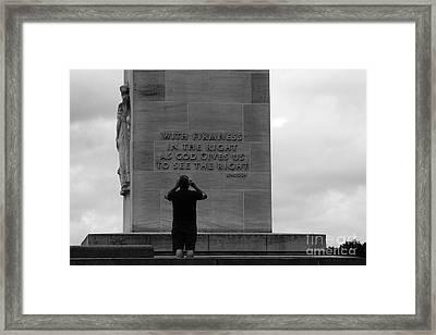 Learning From Lincoln Framed Print by James Brunker
