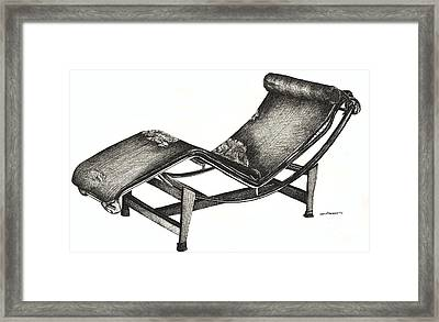 Leather Chaise Longue Framed Print by Adendorff Design