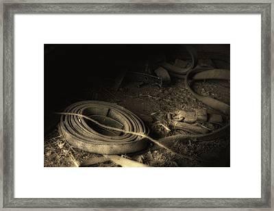 Leather Strap Still Life Framed Print by Tom Mc Nemar