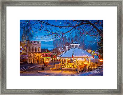 Leavenworth Gazebo Framed Print by Inge Johnsson