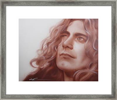 Robert Plant - ' Leaves Are Falling All Around ' Framed Print by Christian Chapman Art