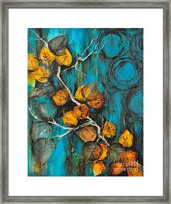 Leaves Of Gold Framed Print by Donna Martin