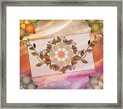 Leaves Rosette 2 Framed Print by Bedros Awak