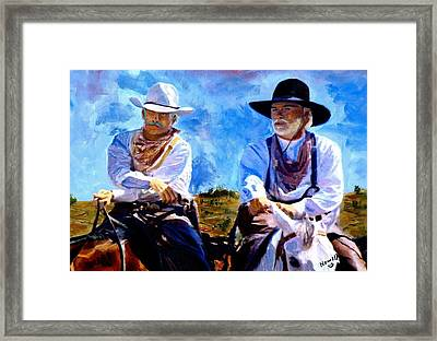 Leaving Lonesome Dove Framed Print by Peter Nowell