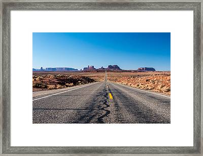 Leaving Monument Valley Framed Print by Josh Whalen
