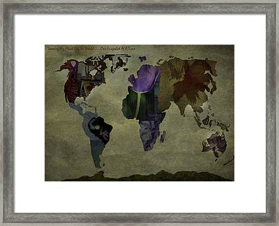 Leaving My Mark On The World Framed Print by Trish Tritz