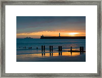 Leaving Port Framed Print by Dave Bowman