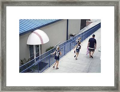 Leaving The Game Framed Print by William Ragan