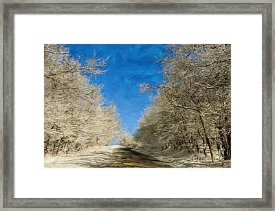 Leaving Winter Behind Framed Print by Lois Bryan
