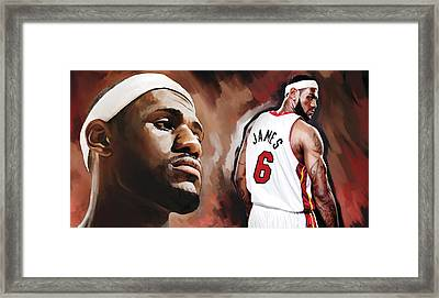 Lebron James Artwork 2 Framed Print by Sheraz A