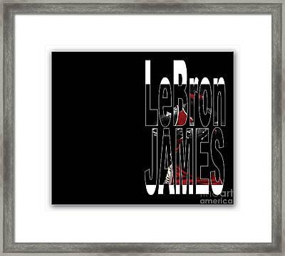 Lebron James Framed Print by Marvin Blaine