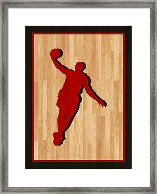 Lebron James Miami Heat Framed Print by Joe Hamilton