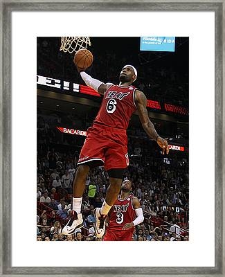 Lebron Framed Print by Paint Splat