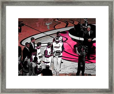 Lebron's 1st Ring Framed Print by J Anthony