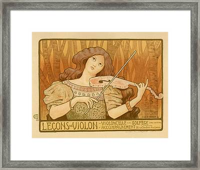 Lecons De Violon Framed Print by Gianfranco Weiss