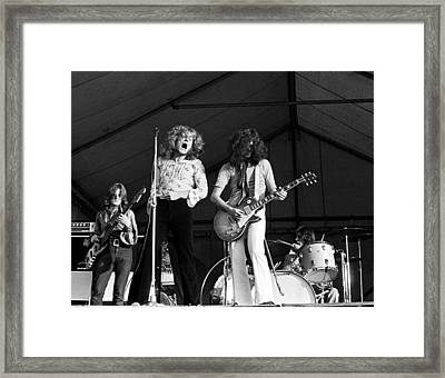 Led Zeppelin Bath Festival 1969 Framed Print by Chris Walter