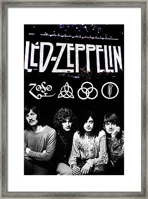 Led Zeppelin Framed Print by FHT Designs