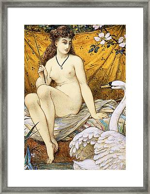 Leda And The Swan Framed Print by William Stephen Coleman