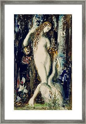 Leda  Framed Print by Gustave Moreau