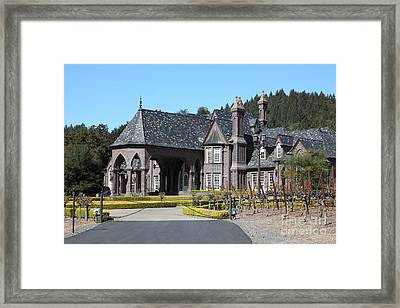 Ledson Winery And Vineyard In Late Winter Just Before The Bloom 5d22194 Framed Print by Wingsdomain Art and Photography