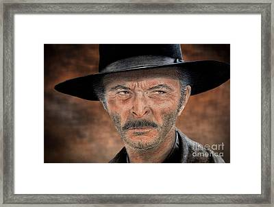 Lee Van Cleef As Angel Eyes In The Good The Bad And The Ugly Version II Framed Print by Jim Fitzpatrick
