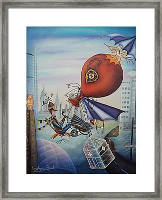 Leeds Gentleman Flies Again Framed Print by Krystyna Spink