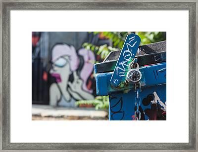 Leela In The Back Graffiti Framed Print by Scott Campbell
