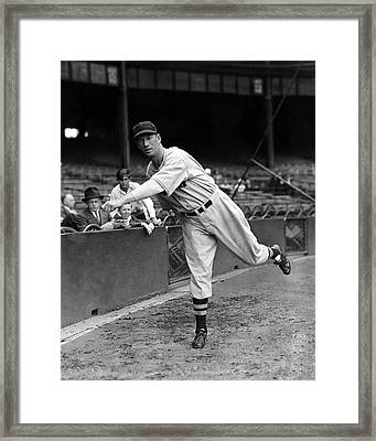 Lefty Grove Getting Ready Framed Print by Retro Images Archive