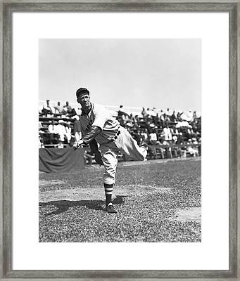 Lefty Grove Pitching In Front Of Crowd Framed Print by Retro Images Archive