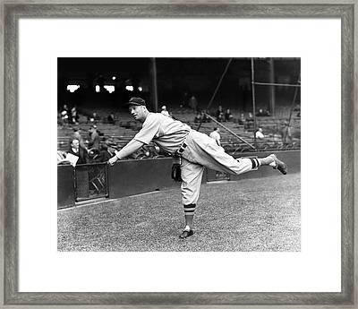 Lefty Grove Pitching Framed Print by Retro Images Archive