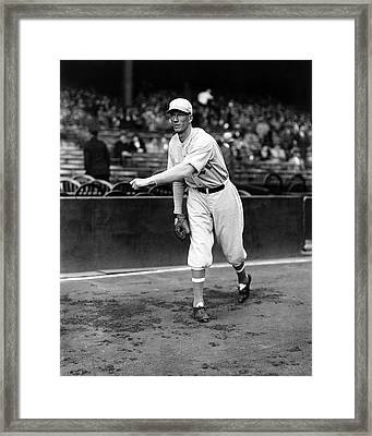 Lefty Grove Pitching Warm Up Framed Print by Retro Images Archive