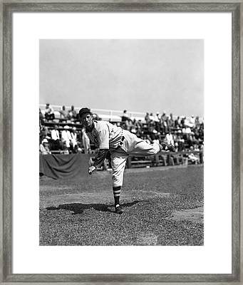 Lefty Grove Working Out Before Game Framed Print by Retro Images Archive