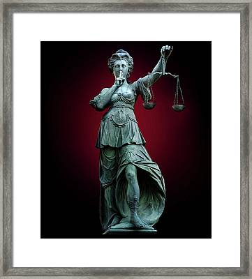 Legal Confidentiality Framed Print by Smetek