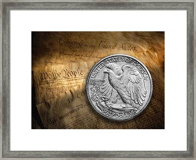 Legal Tender Framed Print by Tom Mc Nemar