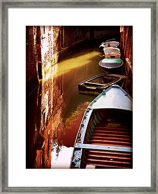 Legata Nel Canale Framed Print by Micki Findlay
