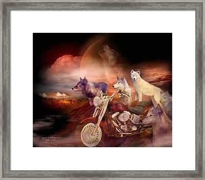 Legend Of Wolf Mountain Framed Print by Carol Cavalaris