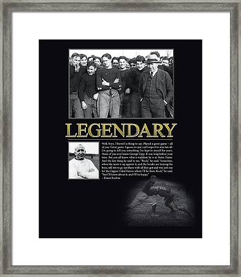 Legendary Knute Rockne Framed Print by Retro Images Archive