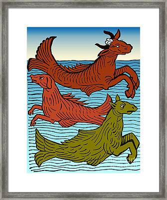 Legendary Sea Creatures, 15th Century Framed Print by Science Source