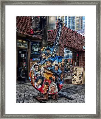 Legends Corner Bar In Nashville Framed Print by Mountain Dreams