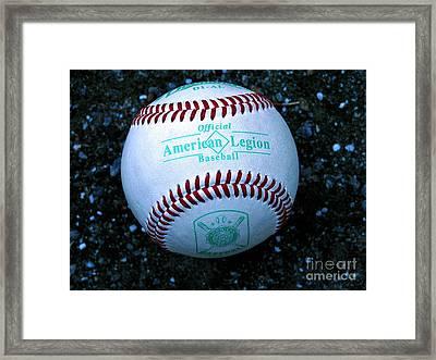 Legion Baseball Framed Print by Colleen Kammerer